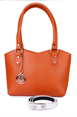 classic fashions Hand-held Bag(Orange) at flipkart