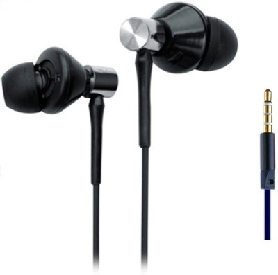 blutech COMPATIBLE FOR REDMI NOTE 4 Wired Headset with Mic(Black, In the Ear)