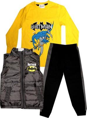 TrendiGo Fashion Boys Casual Jacket T-shirt, Track Pants(Grey)
