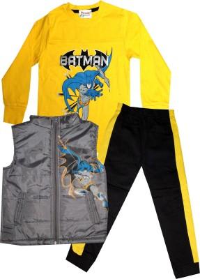 TrendiGo Fashion Boys Casual Jacket T-shirt, Track Pants(Multicolor)