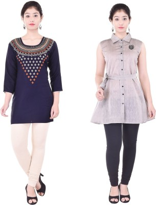 Fabriquere Festive & Party Embroidered, Solid, Embellished Women