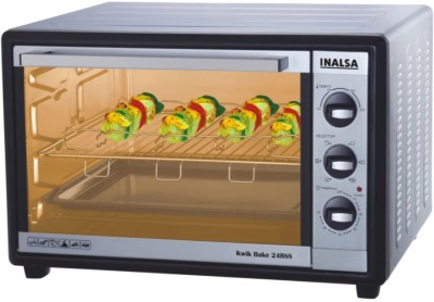 Inalsa Kwik Bake 24 RSS 24 Lts Oven Toaster Grill Black