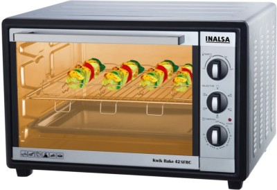 Inalsa Kwik Bake 42SFRC 42 Lts Oven Toaster Griller Silver