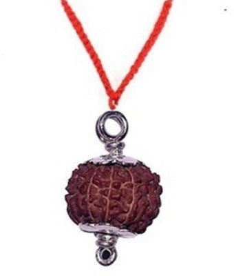 SSG Collections | 8 Mukhi/Faced Rudraksha Pendant, Indonesia/ Java Originated, With Silver Coated Capping (Bead Size: 15-17mm) | 100% Original & Natural Rudrakash | Wood Pendant  available at flipkart for Rs.570