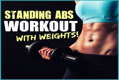 standing abs workout with dumbbells Paper Print(18 inch X 12 inch, Rolled)  available at flipkart for Rs.125