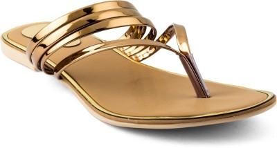 Cuty Fashion Women Gold Flats