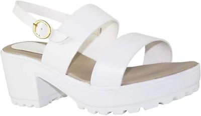 Cuty Fashion Women White Heels