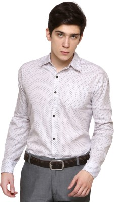 The Mens Stop Men's Polka Print Casual Shirt