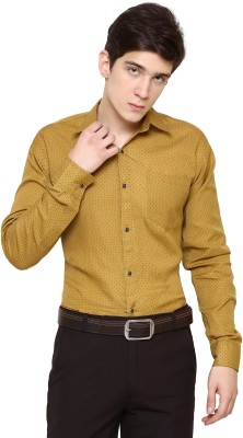 The Mens Stop Men's Solid Casual Yellow Shirt