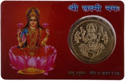 GIRISHA AND SON Metal Goddess Laxmi Dhan Laxmi Vaibhav Laxmi Pocket Card Yantra (8.89 Cms x 5.08 Cms, Gold) Paper, Iron Yantra (Pack of 1) Showpiece  -  3 cm(Plastic, Multicolor)  available at flipkart for Rs.183