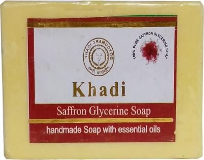 khadikhazana saffron glycerine soap 125grams(125 g)