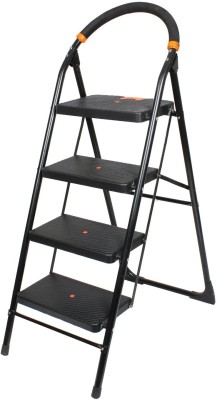 Truphe Heavy Duty Anti Skid Folding Ladder with Wide Steps ( 7 Years Warranty) 4 Steps Iron Ladder(With Platform)
