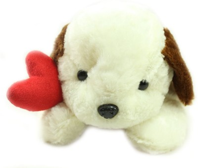 Tickles Loving Teddy with Heart Soft Plush Toy   40 cm White Tickles Soft Toys