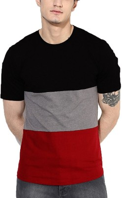 PAUSE Solid Men's Round Neck Multicolor T-Shirt