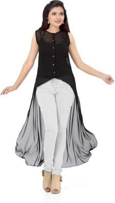 Ishin Party Sleeveless Solid Women's Black Top