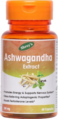 Shrey's Ashwagandha Extract, 500 mg - 60 Capsules(60 No)