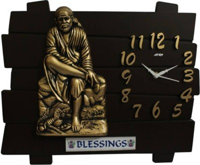 Apro Analog Wall Clock(Wooden color, Without Glass)  available at flipkart for Rs.299