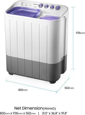 Samsung WT725QPNDMP/XTL 7.2 Kg Semi Automatic Top Load Washing Machine