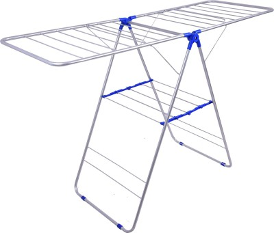 Sukot Folding 3 Layer Cloths Drying Clothes Stand Stainless Steel Floor Cloth Dryer Stand (BLUE) Stainless Steel Floor Cloth Dryer Stand(Blue)