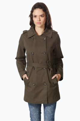 People Pure Cotton Solid Coat at flipkart