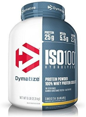 Dymatize Iso 100 Post Workout And Recovery Supplements (2.3kg, Smooth Banana)