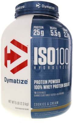 Dymatize Nutrition Iso 100 Whey Protein (2.26Kg, Cookies And Cream)