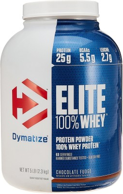 Dymatize Elite 100% Whey Protein(2.3 kg, Chocolate Fudge)