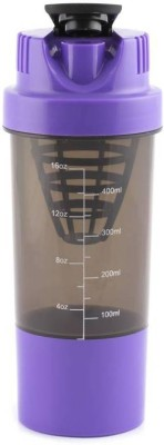 XUDO Crossfit Shake It Gym Shaker For Protein/Water Purpose 500 ml Bottle, Shaker, Sipper, Bottle Cage(Pack of 1, Purple)  available at flipkart for Rs.234