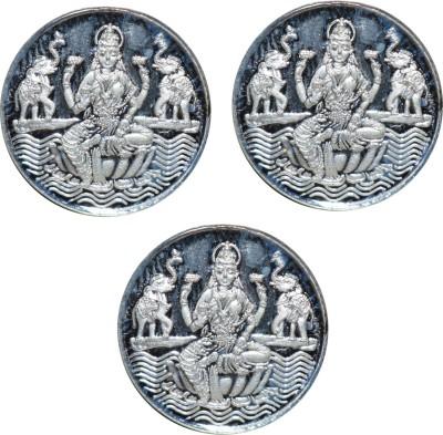 Kataria Jewellers Laxmi Mata S 999 3 g Silver Coin Pack of 3 Kataria Jewellers Coins   Bars