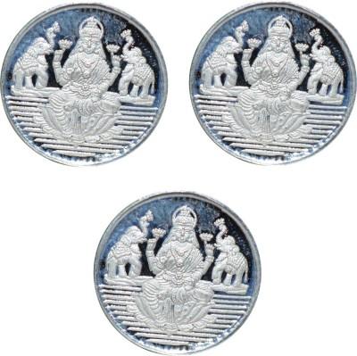 Kataria Jewellers Laxmi Mata S 999 1 g Silver Coin Pack of 3 Kataria Jewellers Coins   Bars