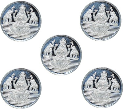 Kataria Jewellers Laxmi Mata S 999 1 g Silver Coin Pack of 5