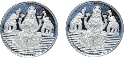 Kataria Jewellers Laxmi Mata S 999 1 g Silver Coin Pack of 2 Kataria Jewellers Coins   Bars