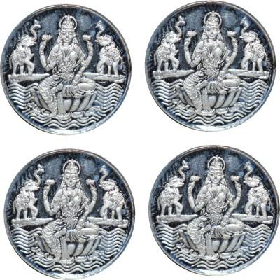 Kataria Jewellers Laxmi Mata S 999 2 g Silver Coin Pack of 4 Kataria Jewellers Coins   Bars
