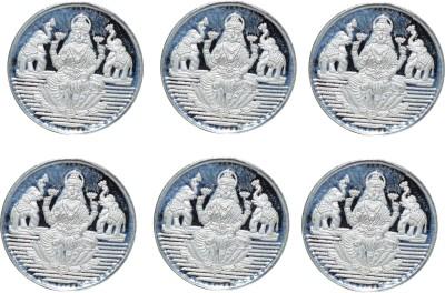 Kataria Jewellers Laxmi Mata S 999 1 g Silver Coin Pack of 6