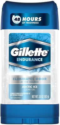 Gillette ENDURANCE Arctic Ice Clear Gel Anti-Perspirant-3.08 OZ Deodorant Stick  -  For Men(107 g)  available at flipkart for Rs.599
