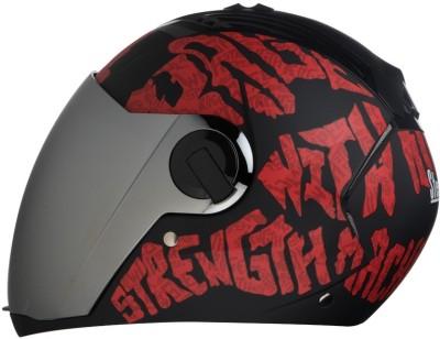 Steelbird AIR SBA-2 Strength Motorbike Helmet(Black with Red)
