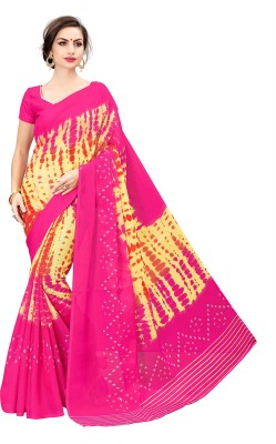 823ce0c957391 77% OFF on Sariya Printed Mooga Poly Silk Saree(Pink) on Flipkart ...