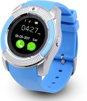 MOBILE LINK v9(blue)_Sv.7 phone Blue Smartwatch(Blue Strap Free Size)