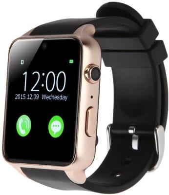 MOBILE LINK A9.gldn_sv.52 phone Gold Smartwatch(Black Strap Free Size)