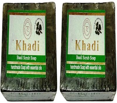 khadikhazana basil soap 125grams (pack of 2)(2 x 62.5 g)