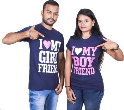 Indian Aurochs Printed Men & Women Round Neck Blue T-Shirt(Pack of 2)