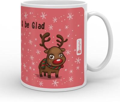 Indi ts Smile Sing & be Glad Quote Ceramic Mug 330 ml