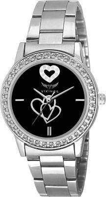 VIKINGS VIKING-LADIES-025-BLACK-CHAIN-DIAMOND WATCH DIAMOND Watch  - For Girls