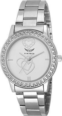 VIKINGS VIKING-LADIES-025-SILVER-CHAIN WATCH DIAMOND Watch  - For Girls