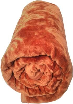 TrueValue Creations Floral, Plain Single Mink Blanket(Polyester, Golden Brown) at flipkart
