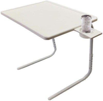 EasyHome Tablemate White Color Adjustable Plastic Portable Laptop Table Multipurpose Study Table White Changing Table