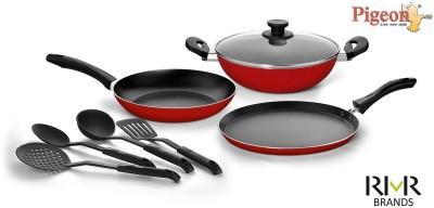 Pigeon Favourite Gift Set of Cookware Set Aluminium, 7   Piece Pigeon Cookware Sets