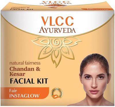VLCC Ayurveda Natural Fairness Chandan & Kesar Facial Kit (5 Step Kit)