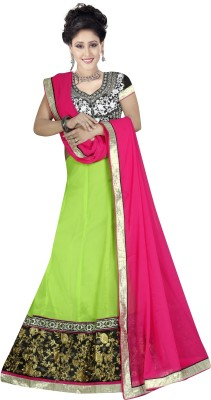 a8c3a3c039 MAMTA ABHISHEK Embroidered Ghagra, Choli, Dupatta Set(Light Green)
