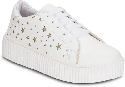 Get Glamr Tam Platform Sneakers For Women(White)